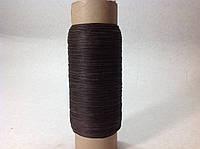 Нитка вощёная (круглый шнур), 375т, 500 м, цв. коричневый