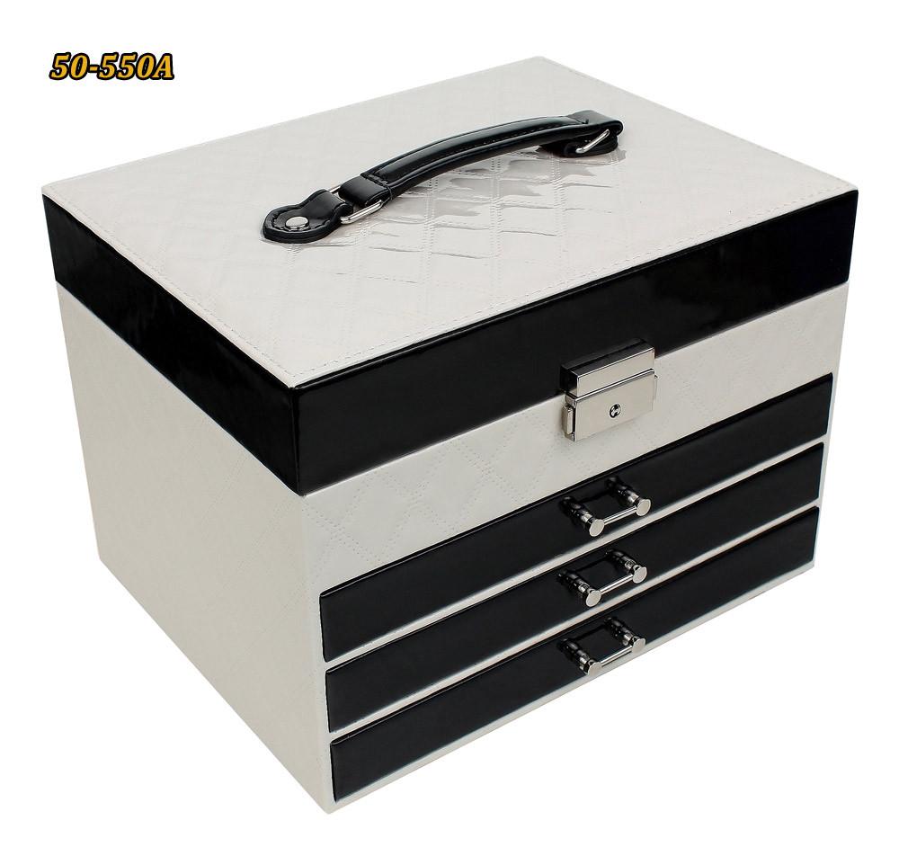 Шкатулка для украшений 50-550 А черно-белая