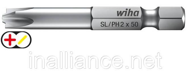 Бит  90 мм SL/PH1 Professional Xeno-шлиц/ Phillips, Wiha 32686
