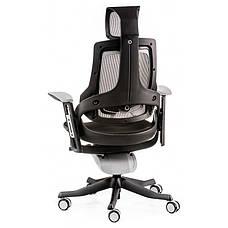 Кресло офисное Special4You WAU BLACK FABRIC, CHARCOAL NETWORK (Е0789), фото 3