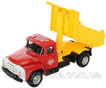 Машинка PLAY SMART Автопарк Самосвал Зил, металл+пластмасса, красно-желтый инерционная, 6517A, 002059