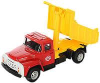 Машинка PLAY SMART Автопарк Самосвал Зил, металл+пластмасса, красно-желтый инерционная, 6517A, 002059, фото 1