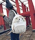 Рюкзак детский подростковый Кот с ушками и хвостиком, фото 6