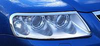 Хром на передние фары для Volkswagen Touareg 2003-2008