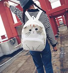 Рюкзак детский подростковый Кот с ушками и хвостиком