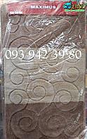 Набор ковриков для ванной и туалета 100*60, 50*60 бежево-коричневый