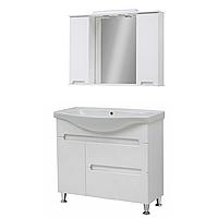 Мини-комплект мебели для ванной комнаты Марко 95-Т-18 с зеркальным шкафом Z-11-95 Юввис