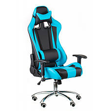 Кресло геймерское Special4You ExtremeRace black/blue (Е4763), фото 3