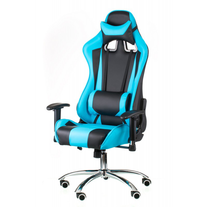 Кресло геймерское Special4You ExtremeRace black/blue (Е4763)