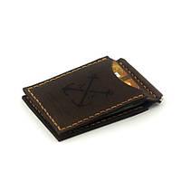 Зажим для Купюр Anchor Stuff с двумя отделениями для карт Коричневый (as110201)