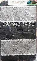 Набор ковриков для ванной и туалета 100*60, 50*60 чёрно-серый