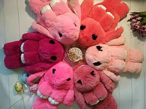 Меховая сумочка-рюкзак зайчик розового цвета, фото 2