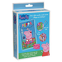 Набор для шитья из фетра Peppa Pig Чехол для мобильного телефона Пеппа на каникулах (119843)
