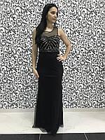 Вечернее женское платье с бисером