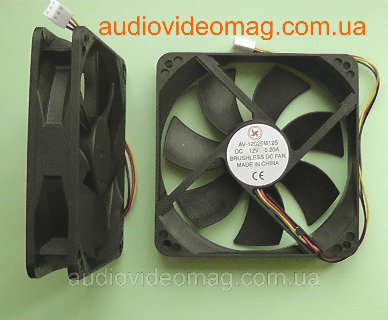 Вентилятор (кулер) 12V 0.2A, 120х120х25, 3 pin, для охлаждения системного блока компьютера