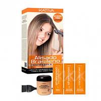 Набор для кератинового выпрямления и восстановления волос с маслом Арганы Kativa KERATINA
