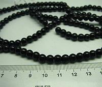 Бусины керамические черные  6 мм