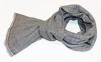 Кашемировая шаль CASHMERE SCARF Черно-белая (EXQ4009)