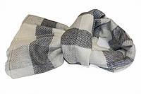 Кашемировая шаль CASHMERE SCARF  Черно-белая (EXQ4008)