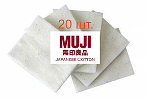 Хлопок для спиралей вата Muji Cotton- 20 шт., Япония, Оригинал