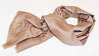 Кашемировая шаль BABY CASHMERE Темно-коричневая  (ELE4006)