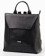 Рюкзак кожаный женский Franco Cesare Черный (FC419BL2)