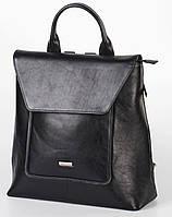 Рюкзак кожаный женский Franco Cesare Черный (FC419BL)