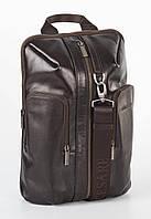 Рюкзак кожаный мужской Franco Cesare Темно-коричневый (FC416BR)