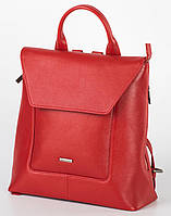Рюкзак кожаный женский Franco Cesare Красный (FC419R)