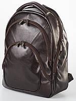 Рюкзак кожаный мужской Franco Cesare Темно-коричневый (FC418BR)