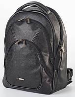 Рюкзак кожаный мужской Franco Cesare Черный (FC418B)