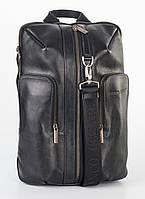 Рюкзак кожаный мужской Franco Cesare Черный (FC416BL)