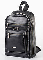 Рюкзак кожаный мужской Franco Cesare Черный (FC417)