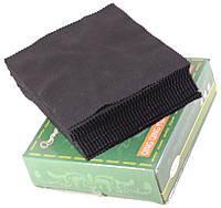 Салфетка для очков, мониторов, глянцевых гаджетов большого размера 16,5см х 14см черная 100 штук