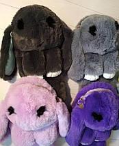 Сумка-рюкзак на цепочке меховой кролик , фото 2