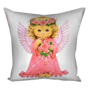 Подушка с принтом Ангел 40х40 см