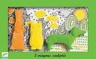Набор Djeco фигурной пастели заяц сова собака (DJ08868)