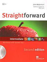 Straightforward Second Edition Intermediate Workbook with key and Audio-CD (Рабочая тетрадь)