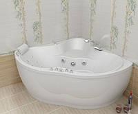 Гидромассажная ванна с врезным смесителем Triton Медея, 1425х1425х635 мм