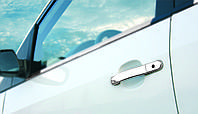 Накладки на ручки Ford Fiesta (хромированная сталь, 4 шт) OmsaLine