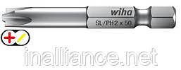 Бит  90 мм SL/PH2 Professional Xeno-шлиц/ Phillips, Wiha 32687