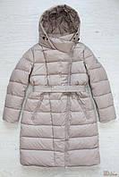 Пальто зимнее бежевого цвета для девочки (146 см)  Snowimage 2125000498492