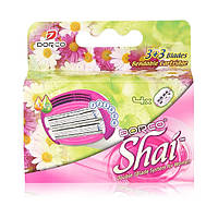 Сменные кассеты для бритья женские Dorco Shai Sweetie 6 лезвий - 4 шт (3027)