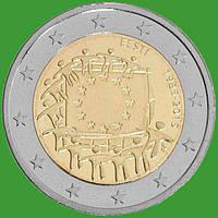 Эстония 2 евро 2015 г. 30 лет флагу Европы . UNC.