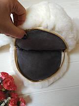 Персиковый рюкзак-сумочка в виде кролика из натурального меха, фото 2