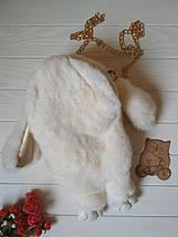 Сумка-рюкзак в виде кролика из натурального меха, фото 2
