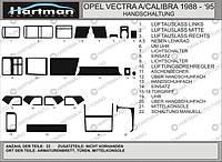 Opel Vectra A 1987-1995 накладки на панель цвет светлый шпон