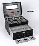 Шкатулка для украшений 50-550 В Черная, фото 7