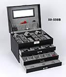 Шкатулка для украшений 50-550 В Черная, фото 8