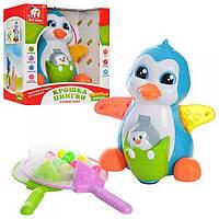 """Детская интерактивная игрушка """"Крошка Пингви"""": стреляет шариками, танцует, двигает крылышками"""